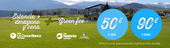 Green Fee + Hotel La Corza